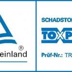 TUEV Rheinland - TOXPROOF Siegel