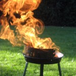 Foto: brennender Grill (nachgestellt)