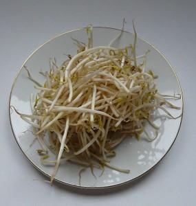 Bild: Frank C. Müller - Mungobohnensprossen auf einem Teller - Quelle: wikipedia.de