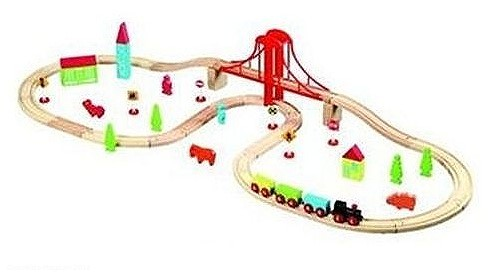 Rückruf: 50-teilige Holzeisenbahn für Kleinkinder von Auchan