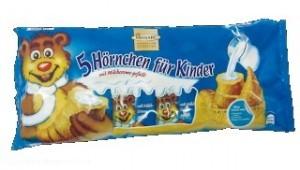 Produktrückruf: Monarc 5 Hörnchen für Kinder mit Milchcreme gefüllt