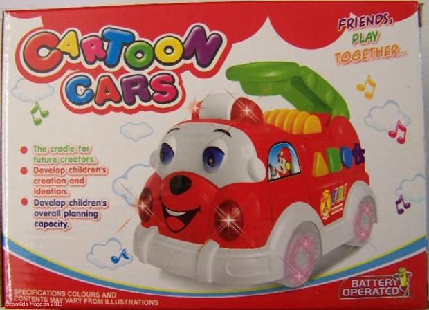 """Verkaufsverbot: Erstickungsgefahr - Spielzeug Löschfahrzeug """"Cartoon Cars"""""""