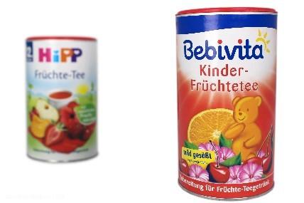 Unter der Marke Bebivita vertreibt Hipp für Kinder ab 12 Monaten Früchtetees aus Granulat, das zu 94 Prozent aus Zucker besteht.