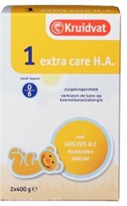 Rückruf für Babynahrung Kruidvat Extra Care HA 1
