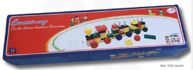 TEDi ruft diesen Holzzug zurück - Bild: TEDi TEDi GmbH & Co. KG