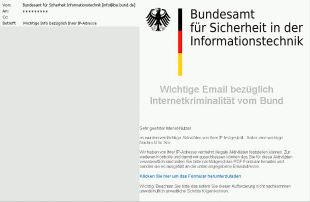 BSI warnt vor Phishing-Welle