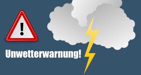 Deutscher Wetterdienst warnt vor Unwettern mit schweren Gewittern und Starkregen