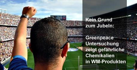 Greenpeace-Untersuchung zeigt gefährliche Chemikalien in WM-Produkten