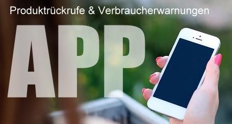 Unsere Produktrückrufe als App für Android, iOS und Windows Phone verfügbar