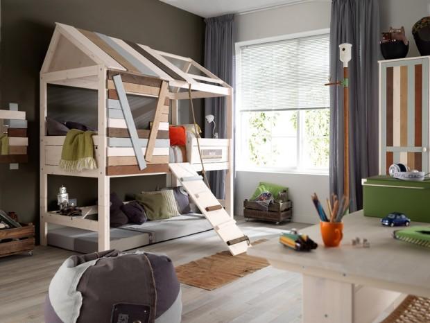 Dieses Hüttenbett ist der perfekte Ort zum Toben, Träumen und Spielen