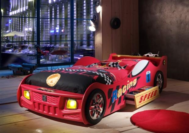 Im Kinderbett Schumi fühlt Ihr Sohn sich wie ein echter Rennfahrer