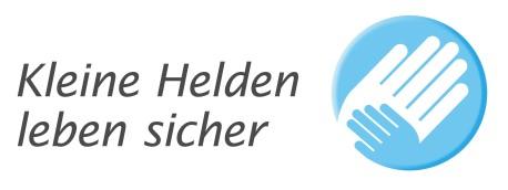 """Logo der  Sicherheitsinitiative """"Kleine Helden leben sicher"""""""
