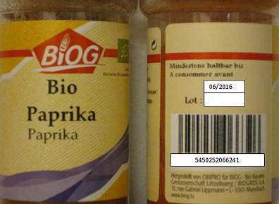 Erhöhte Schimmelwerte - BIOG ruft Paprikapulver zurück