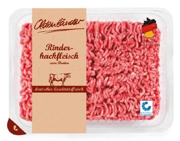 """Warenrückruf des Produktes """"Oldenländer Rinderhackfleisch, 500g""""."""