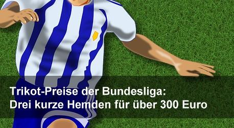 Trikot-Preise der Bundesliga: Drei kurze Hemden für über 300 Euro