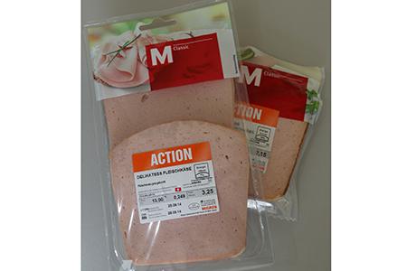 Die zurückgerufenen Artikel M-Classic Delikatess-Fleischkäse 1er- und 2er-Tranchen, nur verkauft in der Genossenschaft Migros Luzern, sind wie folgt erkennbar: Migros-Data verbrauchen bis 28.09.14, Lot-Nummer L11258; Artikel-Nummern 2310.400.600.00 und 2310.400.700.00.