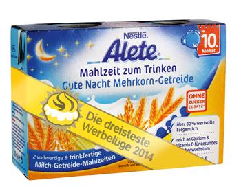 Goldener Windbeutel 2014 – Verbraucher wählen Alete Trinkmahlzeiten zur dreistesten Werbelüge des Jahres - Bild: foodwatch e.V.
