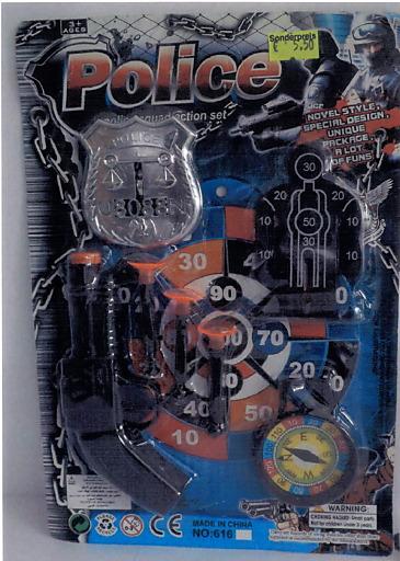 """…Öffentlicher RŸückruf: Spielzeug """"POLICE SQUAD ACTION SET"""""""