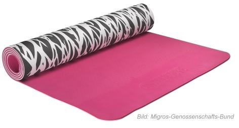 """Rückruf: Gesundheitsgefahr - Migros ruft Yogamatte """"Bodyshape Zebra"""" zurück"""