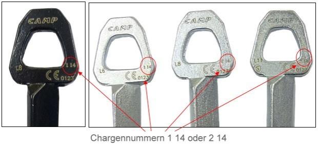 Achtung Bergsteiger - Bruchgefahr bei Schlaghaken CAMP Universal
