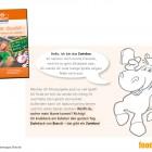 """Brandt hat eigens die Figur """"Zwiebra"""" entwickelt, die Kindern """"viele lustige Spiele zeigen"""" soll: """"Ich knabbere am liebsten den ganzen Tag Zwieback von Brandt – das gibt ein Zwiebra!"""""""