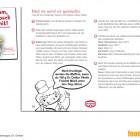 Auf den Arbeitsblättern für Erst- und Zweitklässler ist das Marken-Logo aufgedruckt, die abgebildeten Kinder tragen Dr.Oetker-Schürzen, in den Rezeptvorschlägen werden Dr.Oetker-Produkte empfohlen.