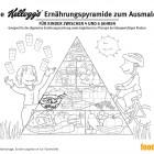 """Die Firma Kellogg's präsentiert eine Ernährungspyramide, in der ihre Frühstücksflocken auf eine Stufe mit Brot und Reis gestellt werden – obwohl viele Produkte von Kellogg's aufgrund des hohen Zuckergehalts von Experten stark kritisiert werden. Kellogg's empfiehlt das Material sogar """"zur Therapie bei übergewichtigen Kindern."""""""