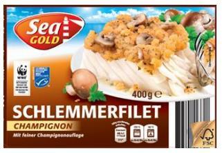 """Rückruf: Plastikteile in """"Schlemmerfilet Champignon - Sea Gold"""" via NettoRückruf: Plastikteile in """"Schlemmerfilet Champignon - Sea Gold"""" via Netto"""