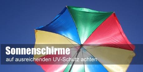 TÜV rät bei Sonnenschirmen auf ausreichenden UV-Schutz zu achten
