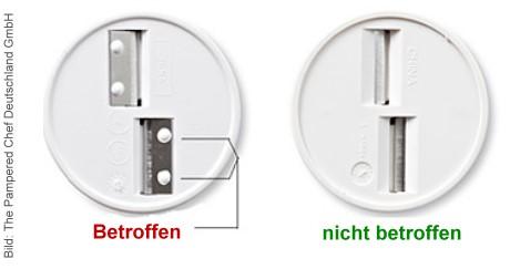 Das nachfolgende Foto unten zeigt die beiden unterschiedlichen Modelle: