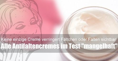 Antifaltencremes: Cremes gegen Falten haben keine sichtbare Wirkung