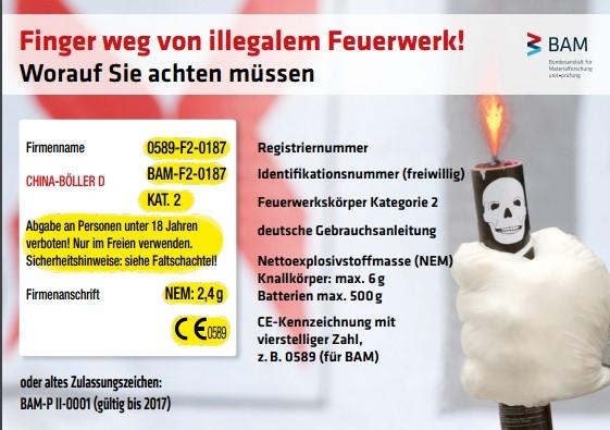 Silvester: Finger weg von illegalem Feuerwerk