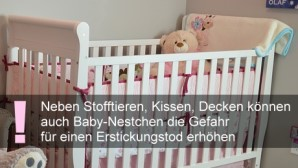 Gitterbettschutz und Baby-Nestchen – Erstickungsgefahr für Säuglinge und Kleinkinder