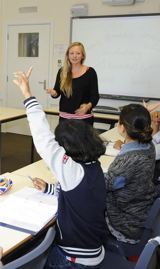 Junge Sprachschüler