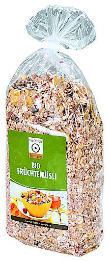 """""""natürlich für uns Bio Früchtemüsli 500g"""" – BILD Pfeiffer Werbung Druck GmbH"""