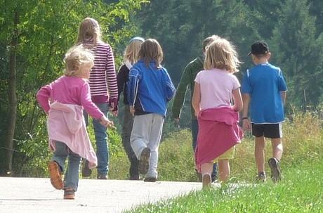 Mit Kindern auf Wanderschaft
