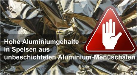 Alu-Schalen: Wenn Aluminium ins Essen übergeht