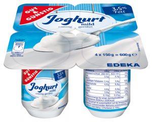 """Hersteller ruft """"GUT&GÜNSTIG"""" 4er Joghurt via Edeka und Marktkauf zurück"""