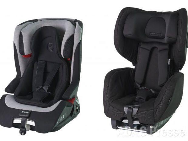 Stiftung Warentest und ADAC warnen: Zwei Kindersitze sind ein Sicherheitsrisiko - Quelle: ADAC e.V. und Stiftung Warentest
