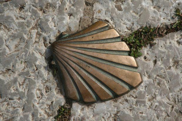 Jakobsmuschel, Symbol des Jakobwegs