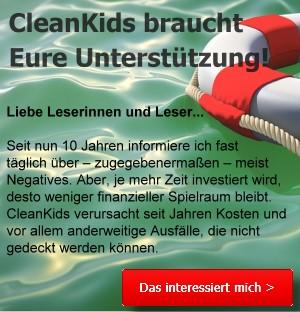 CleanKids ist dringend auf Eure Unterstützung angewiesen!