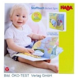 Ein hoher Preis ist keine Garant für Sicherheit und gute Qualität: Das Haba Stoffbuch Elefant Egon für 17,99 Euro fiel durch die Prüfung nach der Spielzeugnorm. Gesamturteil: ungenügend
