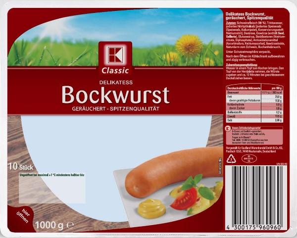 Rückruf bei Kaufland Käse in Bockwurst gefunden