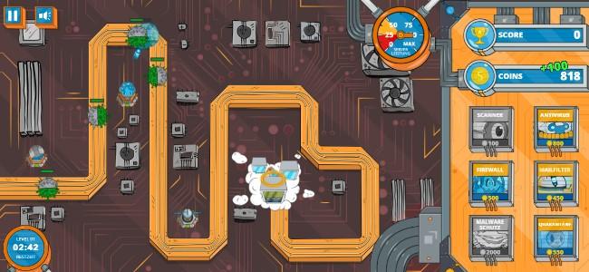 """Verteidigt den Server - im kostenlosen """"Server Defense""""-Game - Bild: strato.de"""