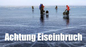 Zugefrorene Gewässer: Achtung Eiseinbruch